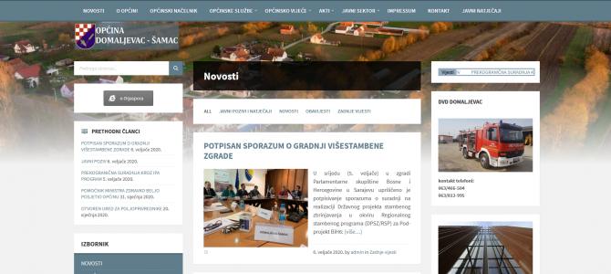 NOVA OPĆINSKA WEB STRANICA